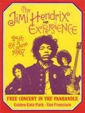 Jimi Hendrix, Free Concert in San Francisco, 1967 Plakat autor Dennis Loren