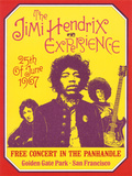 Jimi Hendrix, Free Concert in San Francisco, 1967 Poster by Dennis Loren
