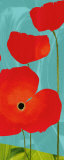 Poppy Sky Affiches par Susy Pilgrim Waters