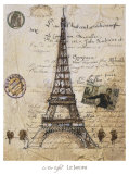 La Tour Eiffel Prints by Elizabeth Jardine