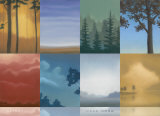Trees and Misty Posters by Deac Mong