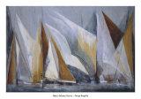 Ocean Regatta Poster by María Antonia Torres