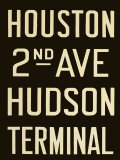 Houston and Hudson Terminal Print