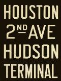 Houston and Hudson Terminal Print