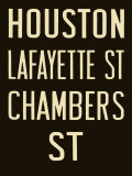 Houston and Lafayette Street Poster