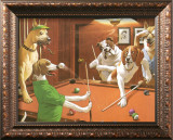 The Scratching Beagle Print by Arthur Sarnoff