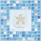 Mosaic Sanddollar Art by Paul Brent