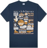 The Big Lebowski - Quote Mashup T-shirts