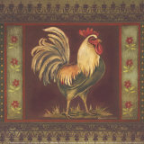 Mediterranean Rooster II Art by Kimberly Poloson