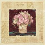 Vintage Rose Pink Affiches par Pamela Gladding