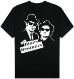 The Blues Brothers - B&amp;W Blue T-Shirt