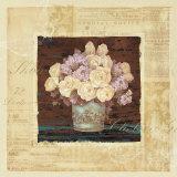 Vintage Rose Yellow Prints by Pamela Gladding