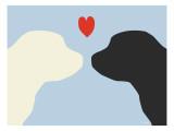 Blue Puppy Love Poster von  Avalisa