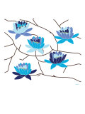 Blue Flowering Tree Posters par Avalisa