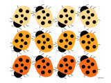 Orange Lady Bug Family Print by Avalisa 