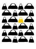 Yellow Handbags Affiche par  Avalisa