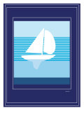 Navy Sail Posters by  Avalisa