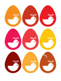 Red Egg Hatching Posters by  Avalisa