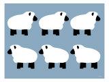 Blue Sheep Family Affiche par  Avalisa