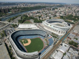 Old New York Yankees Stadium next to New Ballpark, New York, NY Lámina fotográfica