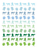 Blue Forest Poster by Avalisa