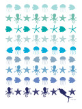 Blue Under the Sea Posters by  Avalisa