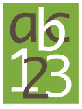 Green ABC and 123 Poster by Avalisa 