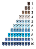 Blue Buckets Affiche par  Avalisa