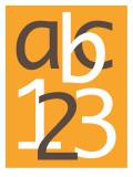 Orange ABC and 123 Posters par  Avalisa