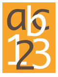 Orange ABC and 123 Posters by Avalisa 