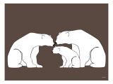 Brown Polar Bears Posters par  Avalisa