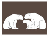 Brown Polar Bears Posters by  Avalisa
