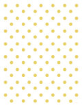 Yellow Polk-a-dots Poster by  Avalisa