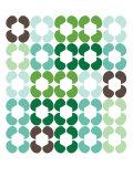 Green Quilt Premium Giclee-trykk av  Avalisa