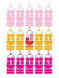 Orange Pink Castle Poster by  Avalisa
