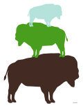 Green Buffalo Posters by  Avalisa