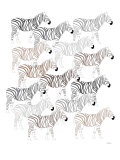 Zebra Pattern Art by  Avalisa
