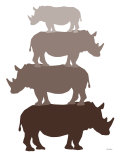 Brown Rhino Print by  Avalisa