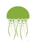 Green Jellyfish Poster par  Avalisa