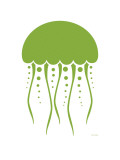 Green Jellyfish Poster by  Avalisa