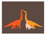 Orange Longneck Posters by  Avalisa