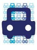 Blue Auto Premium Giclee-trykk av  Avalisa