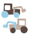 Brown Tractors Reproduction giclée Premium par  Avalisa