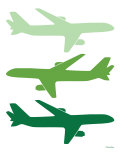 Green Planes Posters by Avalisa
