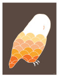 Orange Owl Print by  Avalisa
