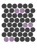 Purple Dots Affiche par Avalisa 