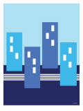 Blue Buildings Posters by  Avalisa