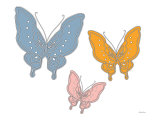 Multi Butterfly Print by  Avalisa
