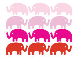 Pink Elephant Family Posters by  Avalisa