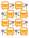 Orange Bus Stop Print by  Avalisa